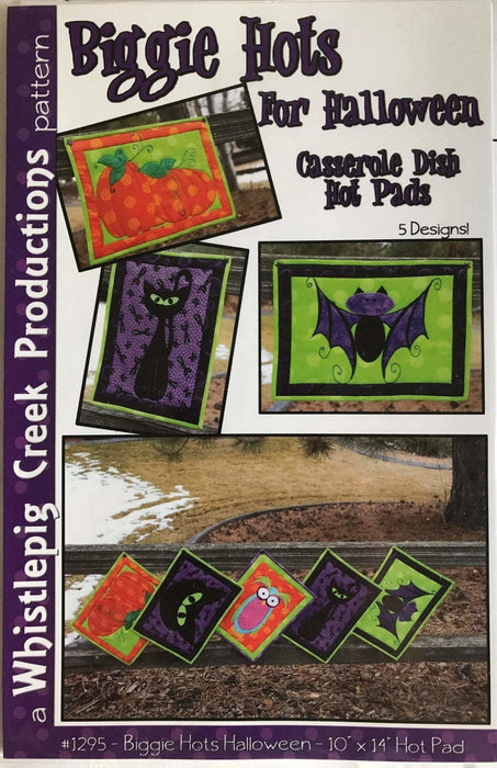 Biggie Hots for Halloween - Pattern - Hot Pad for Casserole Dishes and Wall Hanging by Whistlepig Creek Productions - RebsFabStash