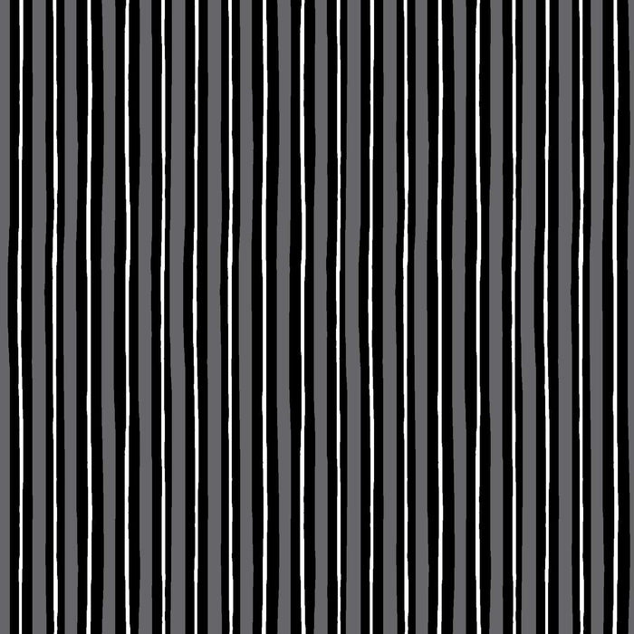 Black and white stripe - Per Yard- Kimberbell Basics - Maywood Studio - MAS 8242-KJ - border print - RebsFabStash