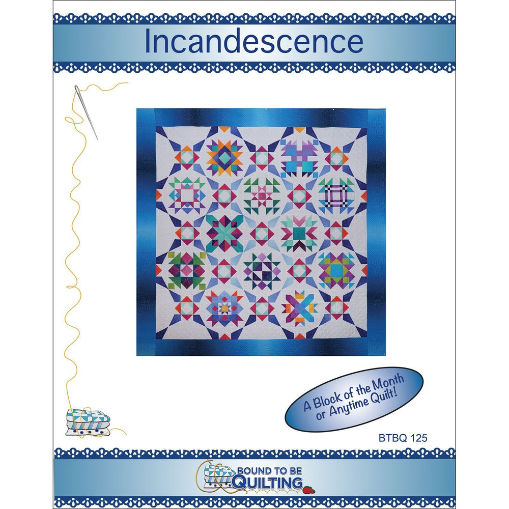Block of the Month Quilt Pattern - Incandescence - Gelato Ombre fabrics by Maywood - Bound To Be Quilting - Pat Syta & Mimi Hollenbaugh - C - RebsFabStash