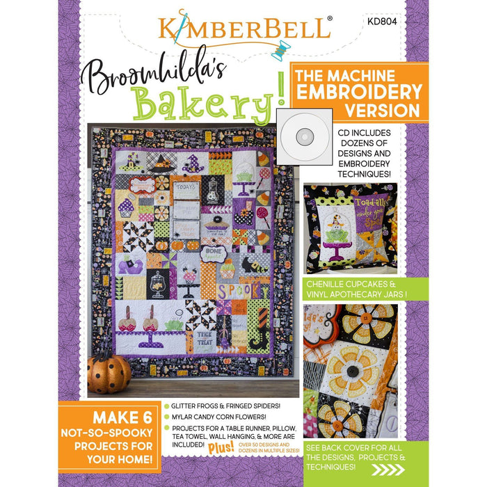 Broomhilda's Bakery - Embroidery CD - Fun projects! Take a look! - Maywood - by Kim Christopherson with Kimberbell Designs -Halloween - RebsFabStash