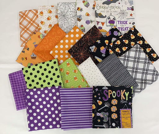 "Broomhilda's Bakery - PROMO Fat Quarter Bundle 18"" x 22"" pieces - Maywood - Kim Christopherson with Kimberbell Designs -Halloween - RebsFabStash"