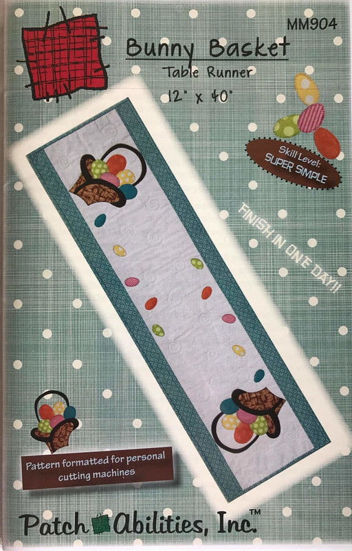 Bunny Basket Table Runner Pattern by Patch Abilities, Inc. Easy Pattern - RebsFabStash