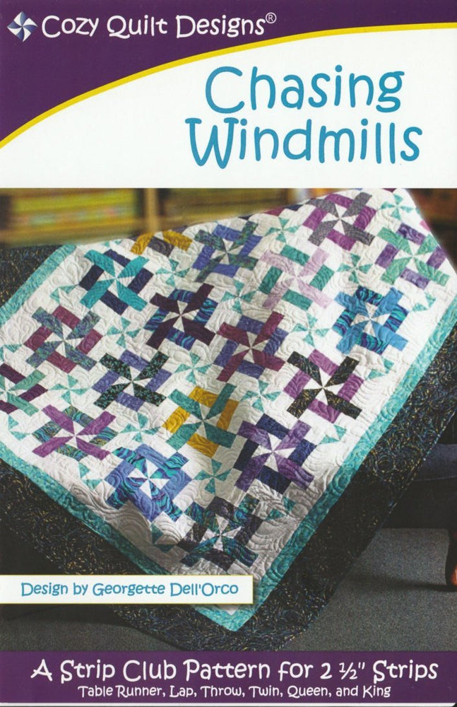 Chasing Windmills - by Cozy Quilt Designs - Jelly Roll Pattern - Quilt Pattern - RebsFabStash
