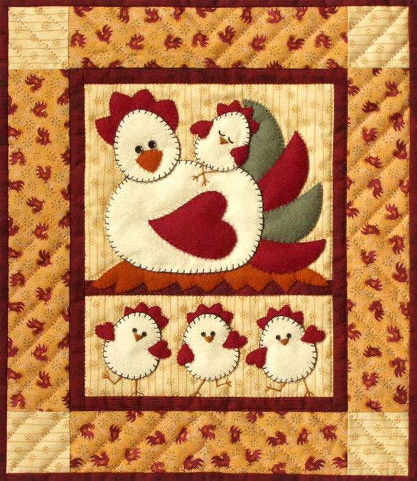 Chicken Coop Quilt Kit - Includes fabrics, pattern, buttons! - Rachel Pellman - Rachel's of Greenfield - Wall hanging quilt kit - RebsFabStash