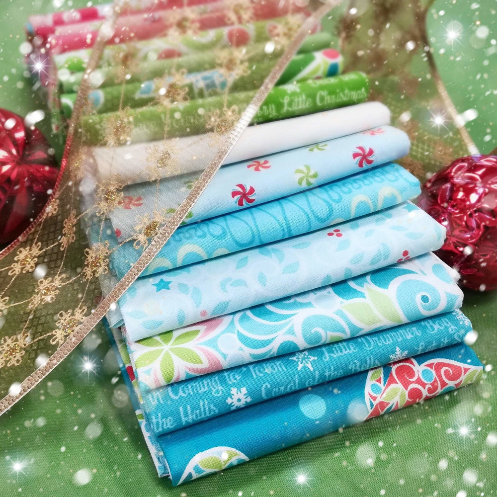 "Christmas Magic - PROMO Fat Quarter Bundles - 18"" x 21"" pieces - Contempo by Benartex - Amanda Murphy - RebsFabStash"