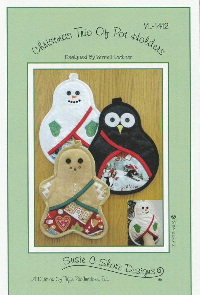 Christmas Pot Holders - Pattern - By Vernell Lockner - Susie Shore Designs - VL 1412 - RebsFabStash