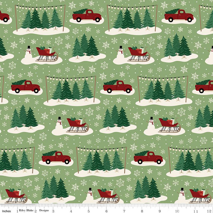 Christmas Traditions - by the yard - by Dani Mogstad for Riley Blake Designs - Plaid - C9595-DKGREEN - RebsFabStash