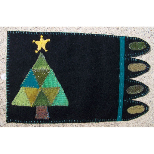 Christmas Tree Mug Rug Kit - Includes wool buttons and glue! - In the Patch Designs - Phyllis Meiring - craft kit, wool kit - RebsFabStash
