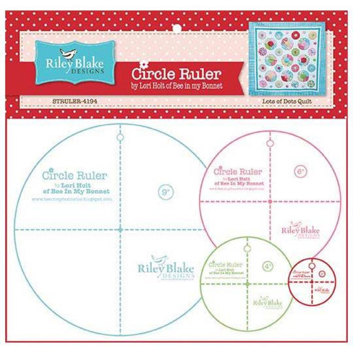 "Circle Rulers 4"", 6"", 8"", 10"", 12""- Lori Holt - Riley Blake Designs - Bee in my Bonnet - RebsFabStash"