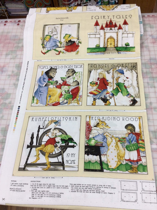 "Classic Storybooks - PANEL (36"" x 44"") - Quilting Treasures - Janet Wecker Frisch - Fairy Tales - Tidings of Great Joy - Fabric book - 1649-24781-X - RebsFabStash"