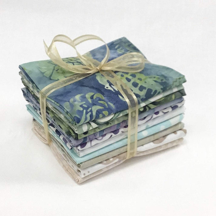 "Coastal Chic Batiks - PROMO Fat Quarter Bundle - (10) 18"" x 21"" pieces - by Monique Jacobs for Maywood - great tonals or blenders - RebsFabStash"
