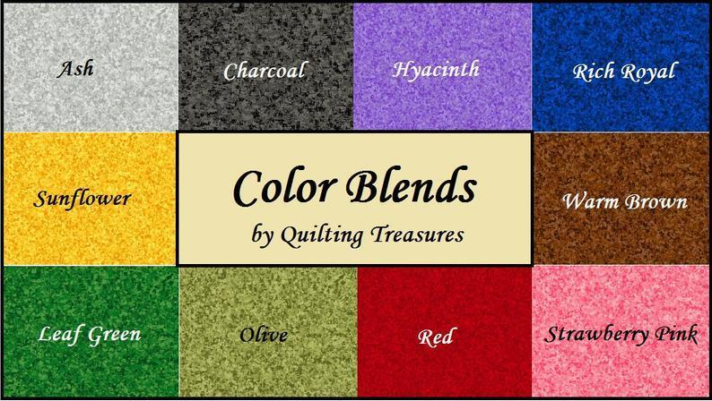 Color Blends - per yard - Quilting Treasures - Avocado - 23528-F - RebsFabStash