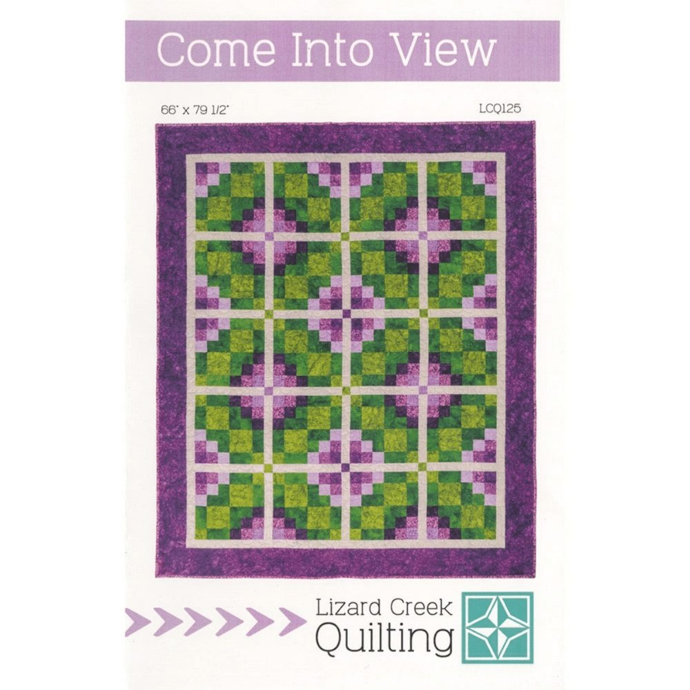 Come Into View Quilt KIT - pattern by Terri Vanden Bosch from Lizard Creek Quilting - uses Island Batiks fabrics - gorgeous purple and green quilt - RebsFabStash