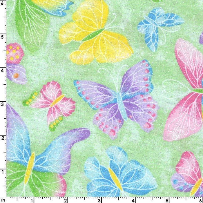 Crafty Cottons - per yard - EE Schenck - Maywood - leaves and vines on light pink- tonal - blender - RebsFabStash