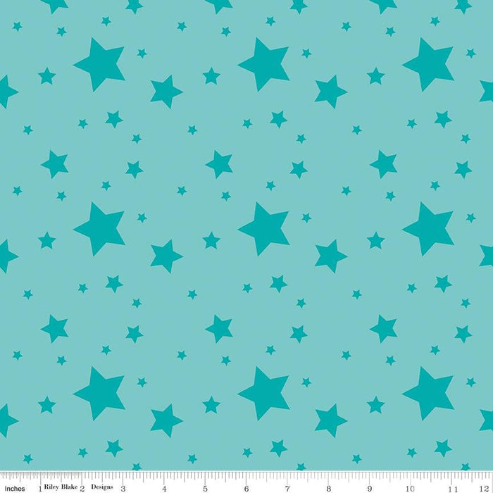 Create - per yard - Kristy Lea of Quiet Play for Riley Blake Designs - Fly Right - C9804-BLUE - RebsFabStash