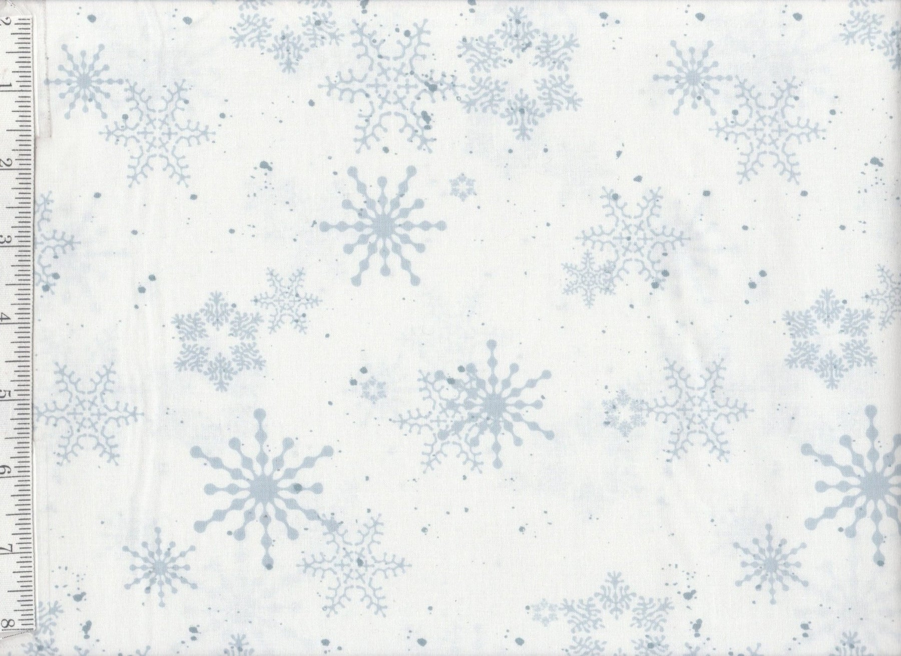 Creature Comforts - per yard - Clothworks - Barb Tourtillotte - Snowflakes on White - RebsFabStash