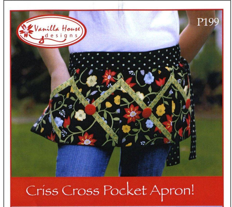 Criss Cross Pocket Apron & Pot holders/Oven Mitts Pattern - Vanilla House Designs - RebsFabStash