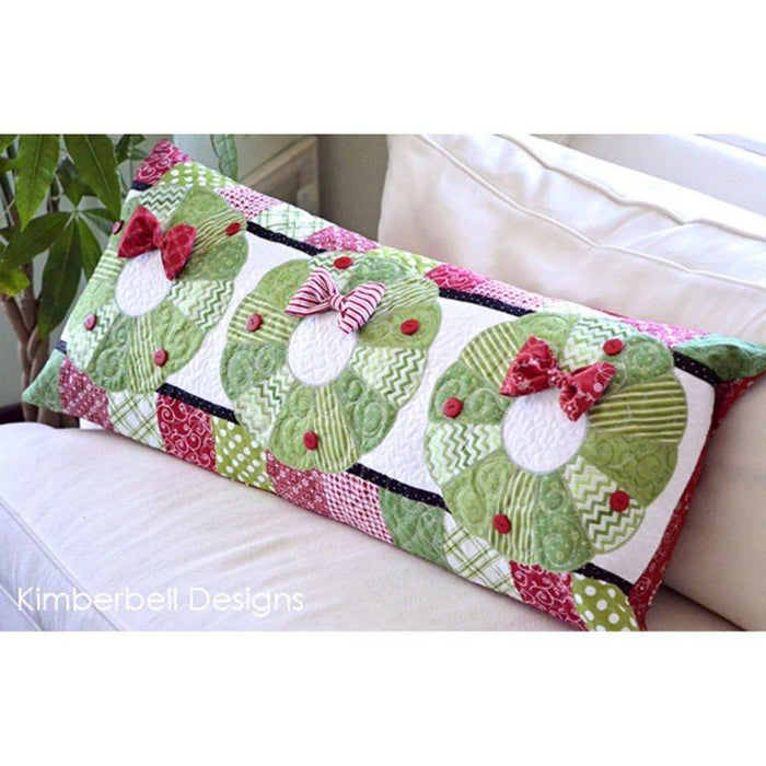Deck the Halls Embroidery CD - by Kimberbell - Christmas Bench Pillow - by Kim Christopherson - C - RebsFabStash