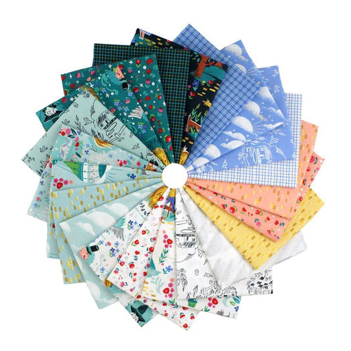 "NEW! Dorothy's Journey - Fat Quarter Bundle (21) 18"" x 21"" pieces - Riley Blake - Jill Howarth - Wizard of Oz! FQ 8680 21"