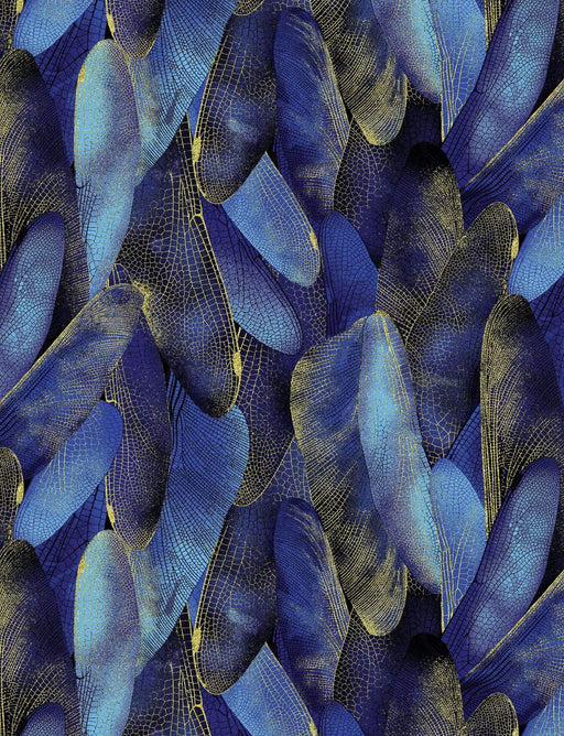 Dragonfly Dance - Maria Kalinowski - Kanvas - Benartex - Gilded wings - Navy 8501M-59 - RebsFabStash