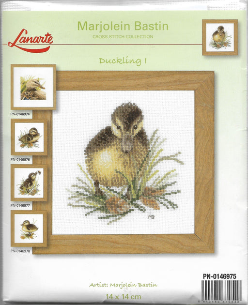 Duckling 1 - Marjolein Bastin Collection - Aida Fabric (18 ct) Counted Cross Stitch Kit, includes thread, fabric, needles, pattern - RebsFabStash