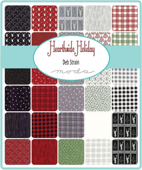"EARLY RELEASE! Hearthside Holiday - Jelly Roll (40) 2.5"" strips - MODA - by Deb Strain - Get ready for Christmas! - RebsFabStash"