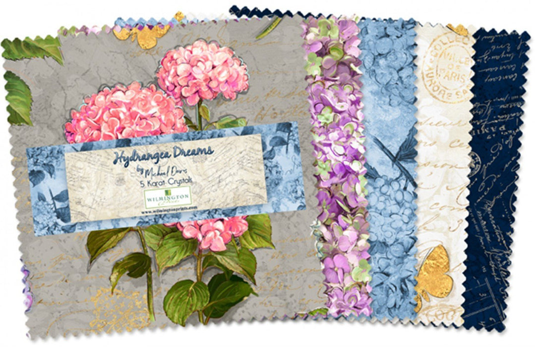 "EARLY RELEASE! Hydrangea Dreams - Wilmington Crystals by Michael Davis - (40) 2.5"" strips - Gorgeous! Jelly Roll - RebsFabStash"
