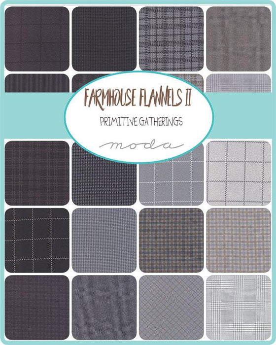 "Early Release! New! Farmhouse Flannels II - FLANNEL - Fat Quarter Bundle (40) 18"" x 21"" pieces - Primitive Gatherings - MODA - traditional plaids & stripes - RebsFabStash"