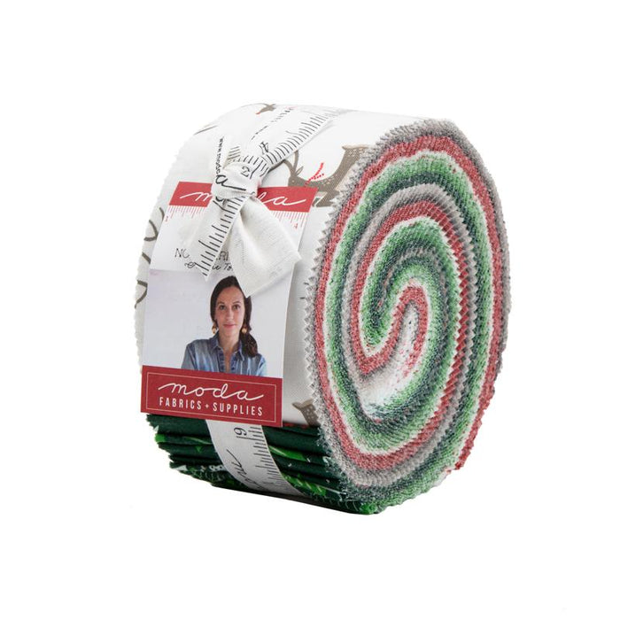 "Early Release! New! Northern Light - Layer Cake - Stacker - (42) 10"" squares - Annie Brady - Moda - Holiday - Christmas - green, red, white, - RebsFabStash"