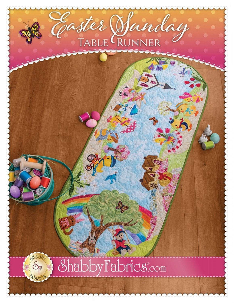 "Easter Sunday Table Runner - Quilt Pattern - by Shabby Fabrics - 20"" x 52"" - Easter or Spring decor! - RebsFabStash"