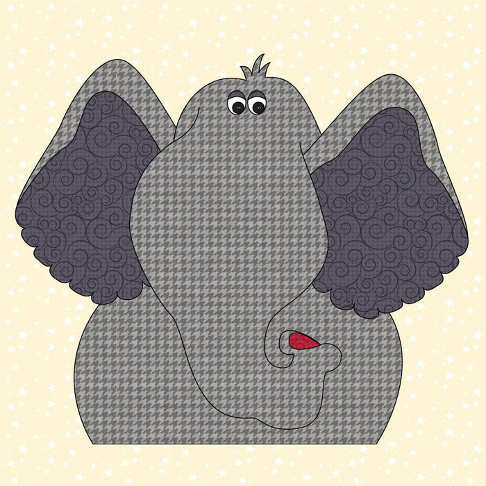 Elephant 2 - Precut Applique Kit - Whole Country Caboodle - RebsFabStash