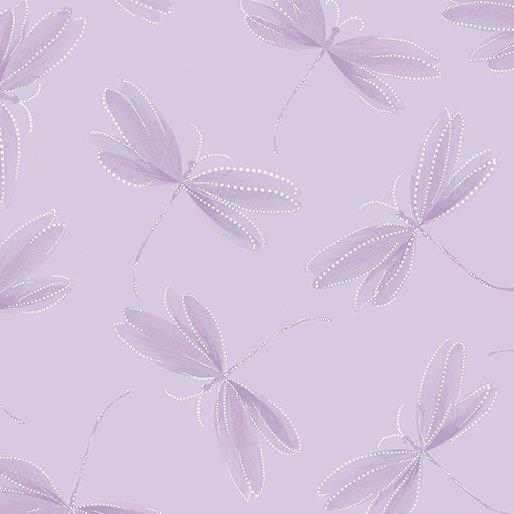 Essence of Pearl - Per Yard - Benartex - Maria Kalinowski by Kanvas Studio - dragonflies, flowers - Tonal light grey - 8731 P 11 - RebsFabStash