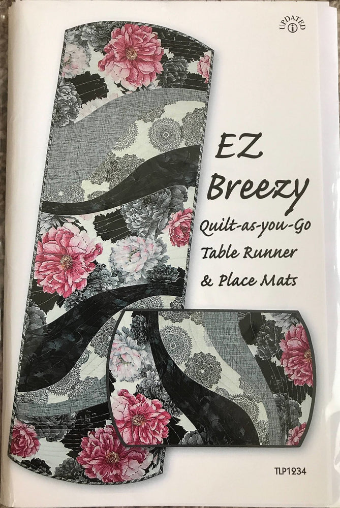 EZ Breezy - Table Runner & Place Mat pattern - Tiger Lily Press - Quilt as you go - TLP1234 - RebsFabStash