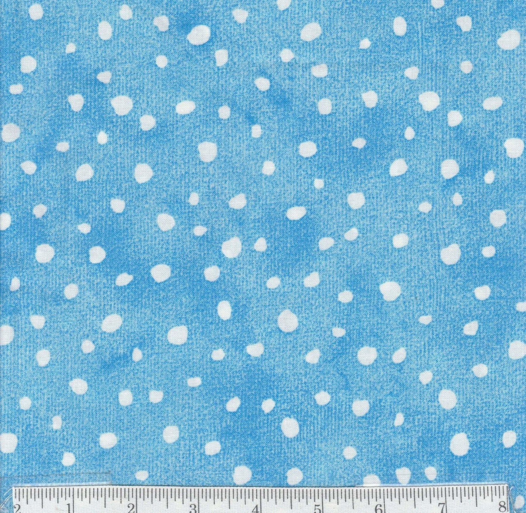 Fancy Free - Per Yard - Benartex - by E. Vive - Fun Fun Fun! - Spots on Blue - RebsFabStash