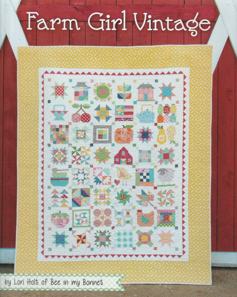 Farm Girl Vintage Pattern Book by Lori Holt of Bee in my Bonnet - It's Sew Emma - Blocks - Quilt Patterns - RebsFabStash