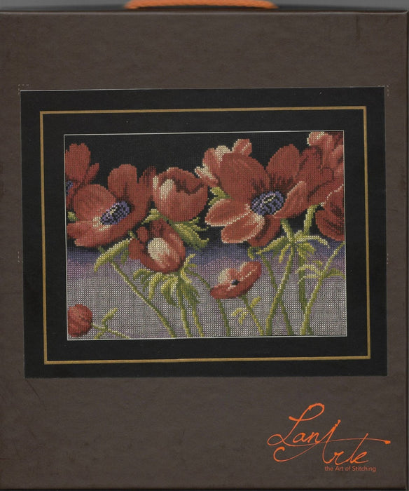 "Feeling Fabulous - Home and Garden Collection by LanArte - Counted Cross Stitch Kit- DMC 100% cotton 14ct ,11""x8.5"", Poppies - Nel Whatmore - RebsFabStash"
