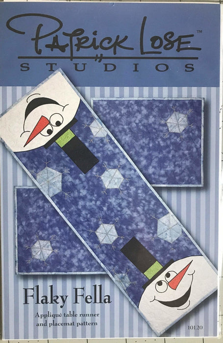 Flaky Fella - Patrick Lose Studios - Applique table runner and placemat patterns - Length customizable!!! - RebsFabStash