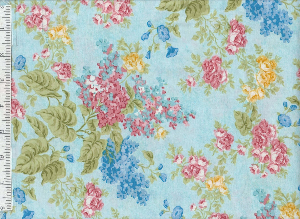 Forever Love - per yard - Benartex - by Eleanor Burns - Flowers on Pink - RebsFabStash