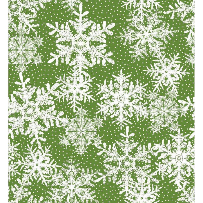 Four Seasons - Per Yard - In the beginning Fabrics by Jason Yenter - White white dots on light green - RebsFabStash