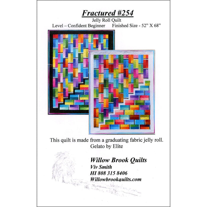 Fractured #254 - Quilt pattern - Gelato ombre fabrics - Maywood - Viv Smith - Willow Brook Quilts - C - RebsFabStash