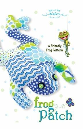 "Frog Patch - 15"" Plush Pattern by Me and My Sister Designs - precut friendly - Uses Confetti fabric collection - RebsFabStash"