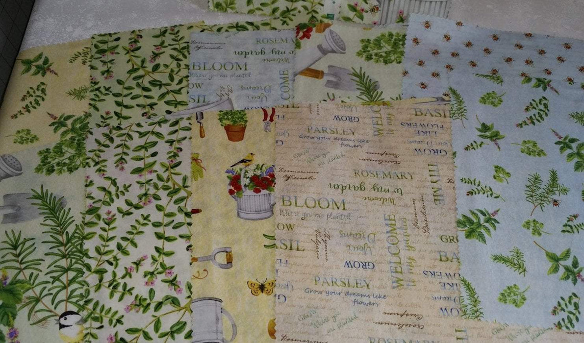 "From the Garden - Panel - Wilmington Prints - Jane Maday - 24"" x 44/45"" - RebsFabStash"