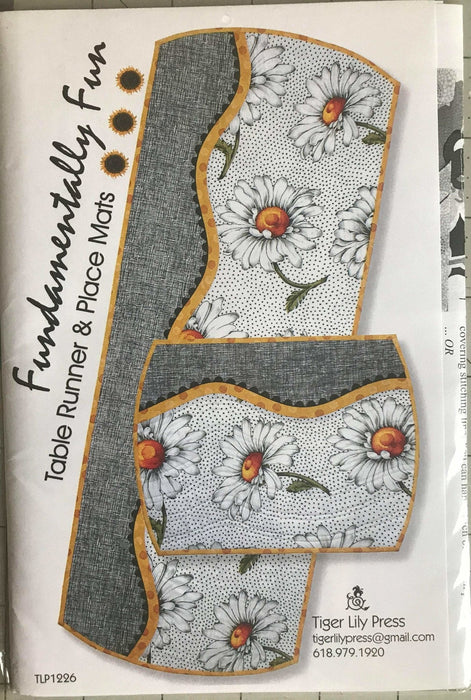 Fundamentally Fun - Table Runner & Place Mat pattern - Tiger Lily Press - RebsFabStash