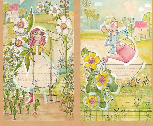 Garden Girls - Panel - Cori Dantini - Blend Fabrics - SEWWW Cute! - RebsFabStash