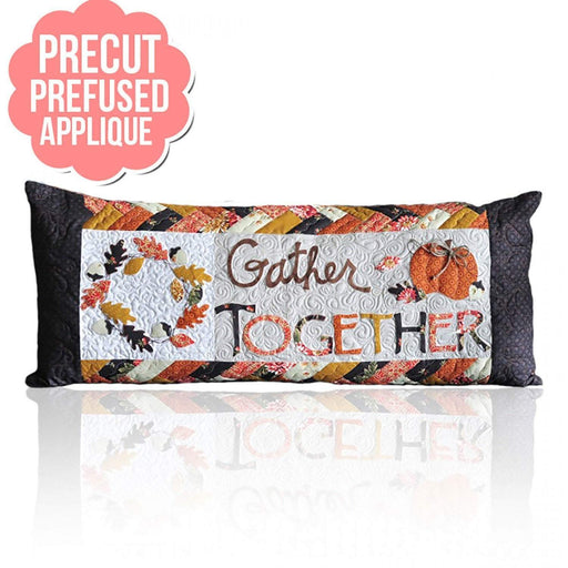 Gather Together Bench Pillow -PRE-FUSED Applique Kit- designed by Kimberbell - Interchangeable Covers - Thanksgiving, home decor, applique - RebsFabStash