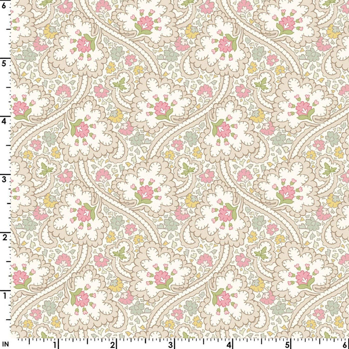 Graceful Moments - Per Yard- Maywood Studio - Floral on green - Love This! - RebsFabStash