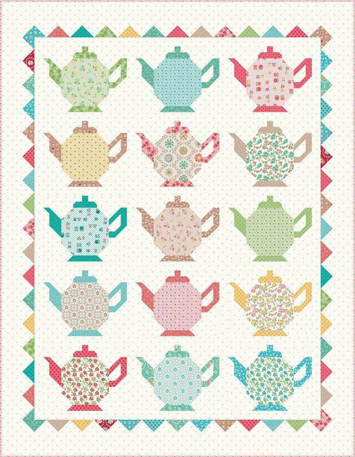 Granny's Teapot Quilt PATTERN - uses Granny Chic by Lori Holt of Bee in my Bonnet - for Riley Blake Designs - RebsFabStash