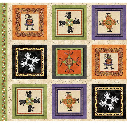 Halloweenie - Panel - Maywood Studio - by Robin Kingsley - RebsFabStash