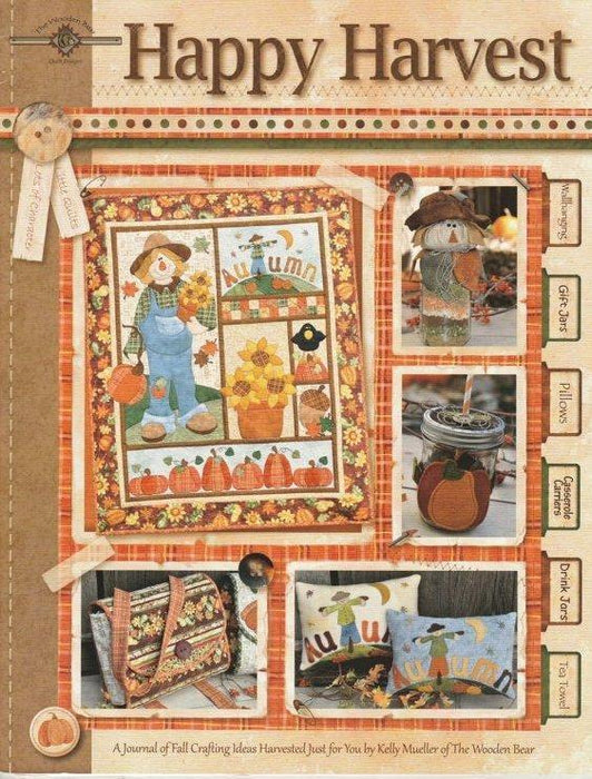 Happy Harvest - Book - Jelly Mueller of the Wooden Bear - Quilt Pattern - Fall, Autumn - RebsFabStash