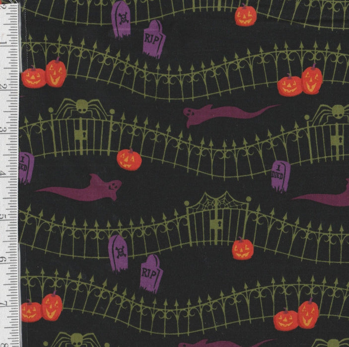 Haunted Hill - per yard - Clothworks - Halloween Blender - RebsFabStash